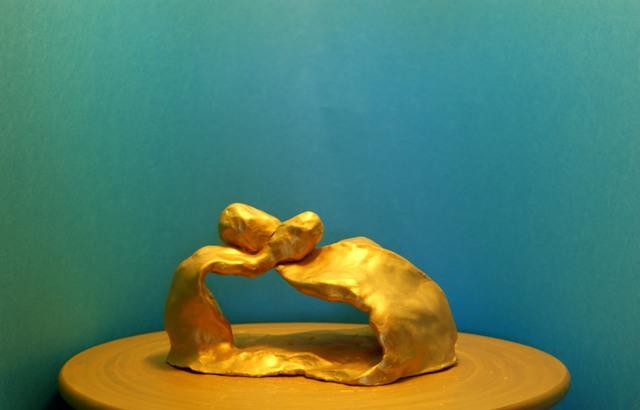 GOLD CORPS D'ARGILE PEINT